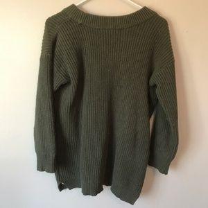 Motherhood Maternity Sweaters - Motherhood Maternity Olive Green Knit Sweater-Med